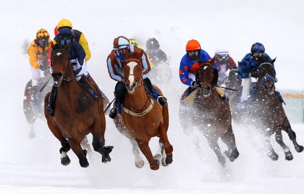 White Turf Horse Racing In St Moritz